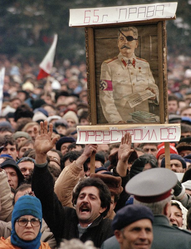 Peaceful demonstration in Sofia, 10 December, 1989 (Klaus Titzer/Anzenberger/FORUM)